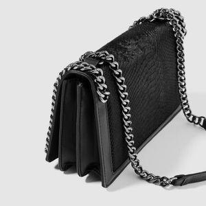 Zara Leather Chain Purse